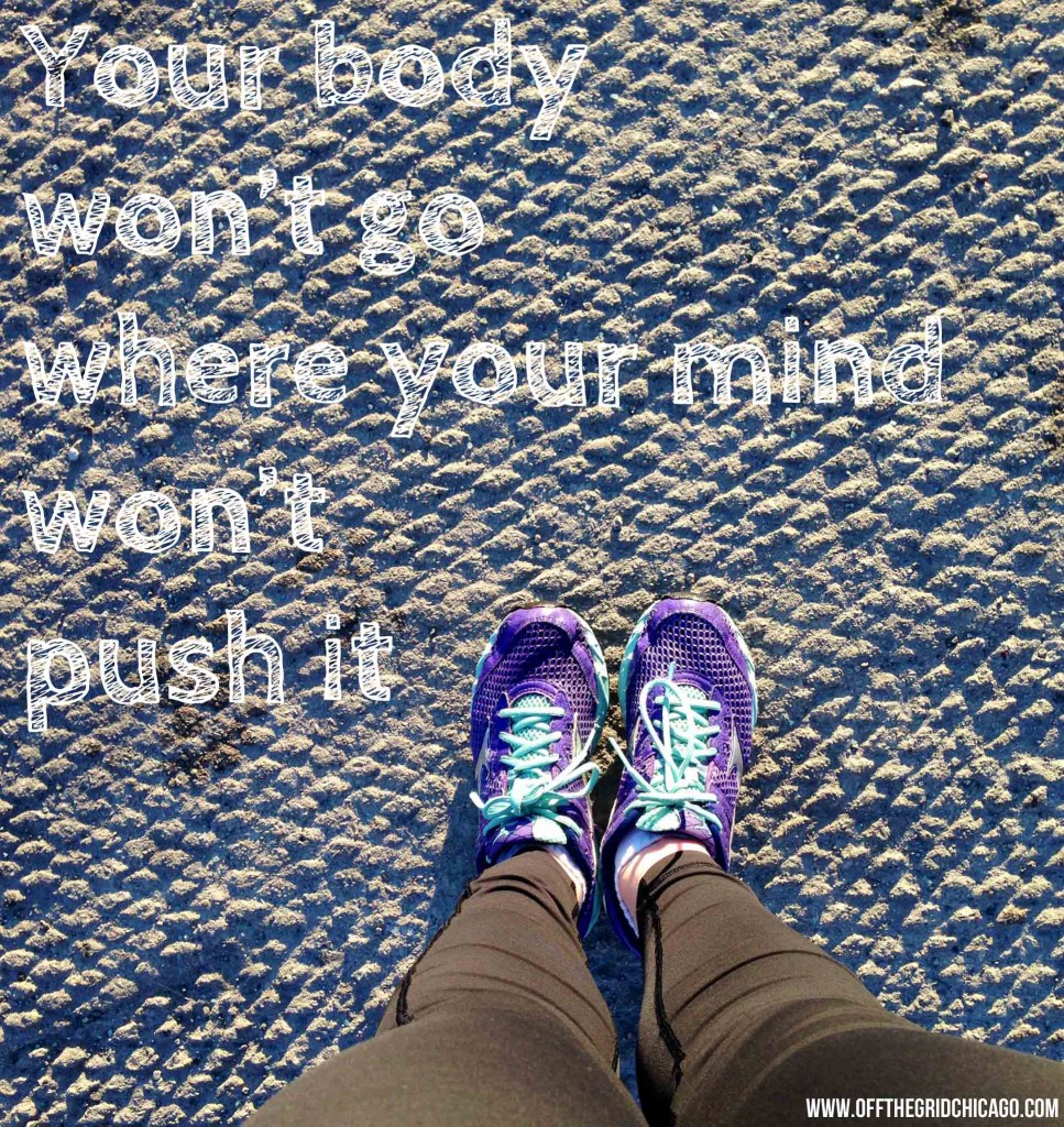 Running In Lincoln Park with Quote. Photo by Kate Frankenberg.