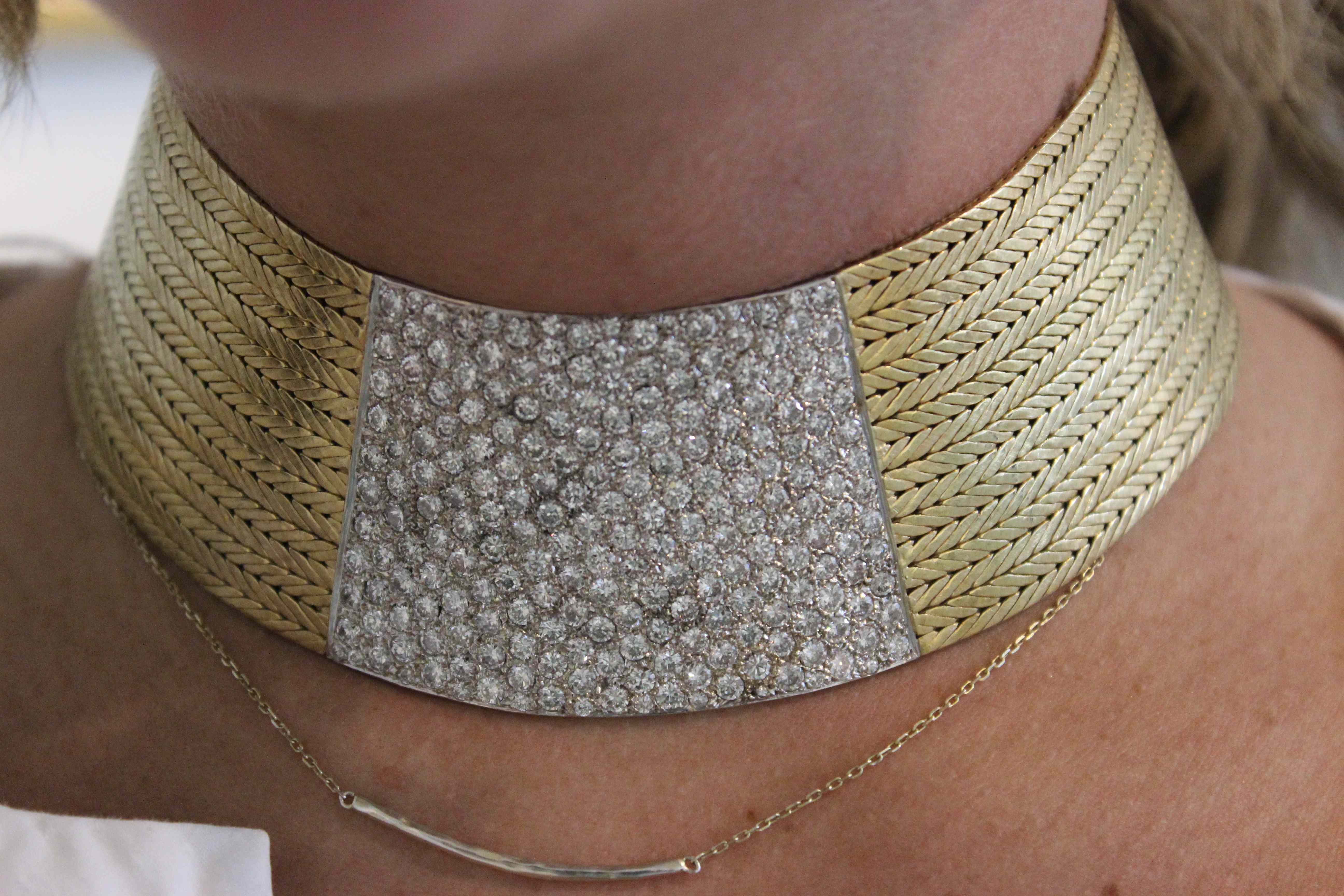 Diamon Collar Necklace about $25,000. Model - Katie Ryan. Photo by Kate Frankenberg.
