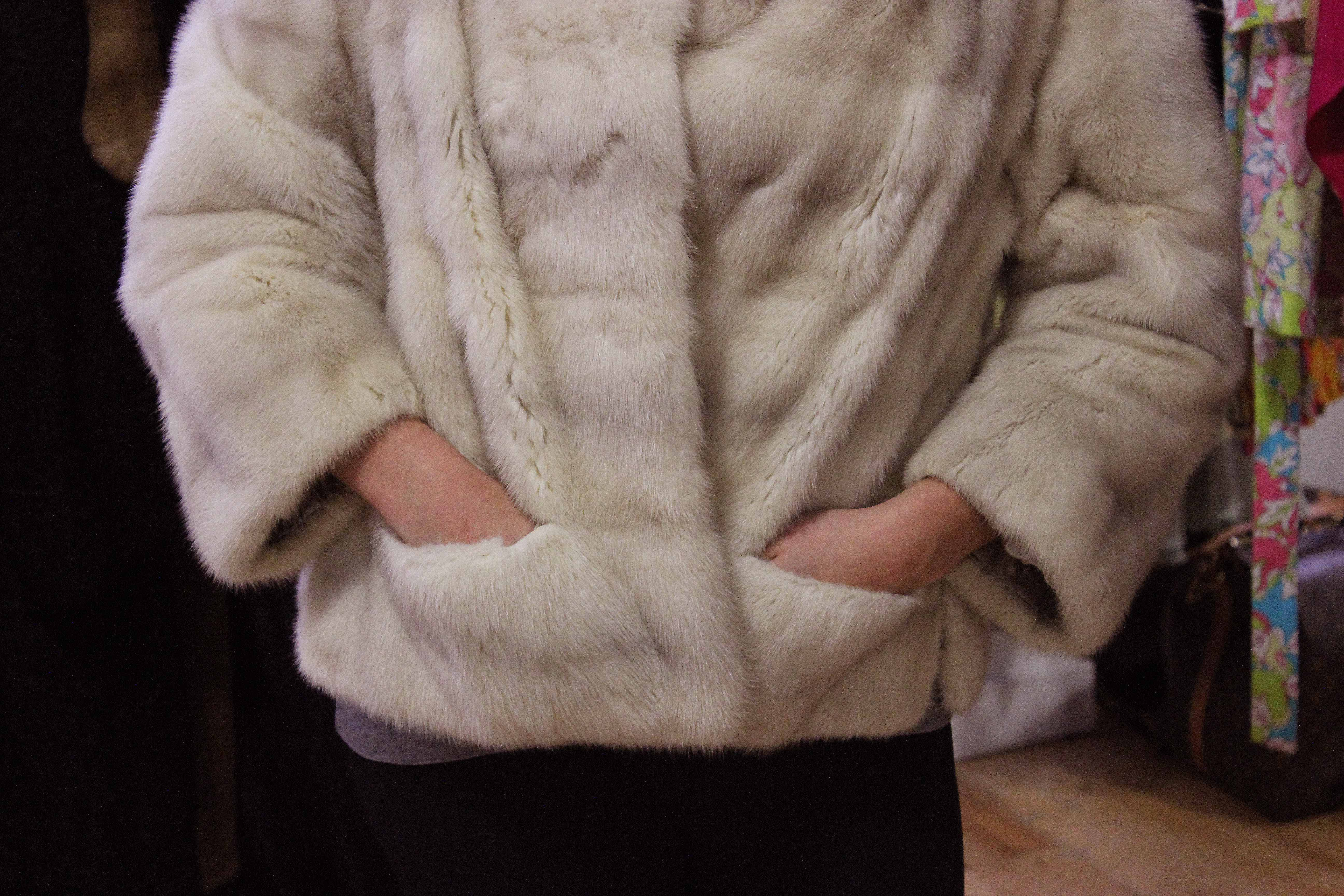 Vintage Fur Coat. Model - Katie Ryan. Photo by Kate Frankenberg.
