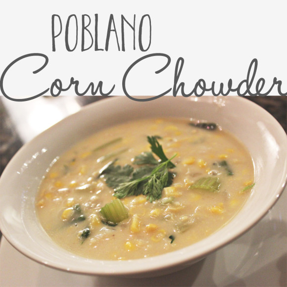 Poblano Corn Chowder With Shrimp